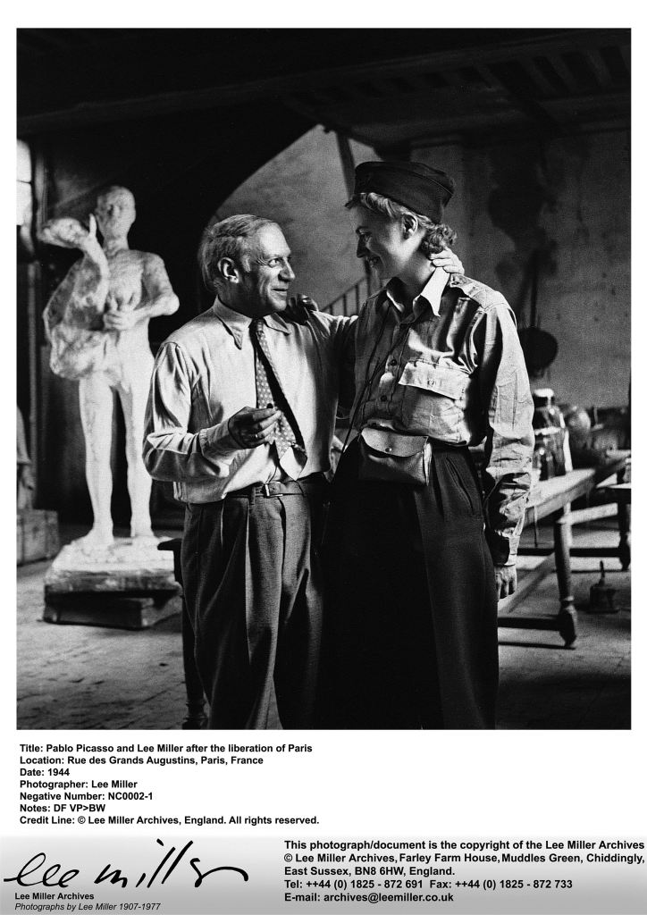 NC0002 1, Lee Miller and Picasso after the liberation of Paris, by Lee Miller, Paris, France, 1944