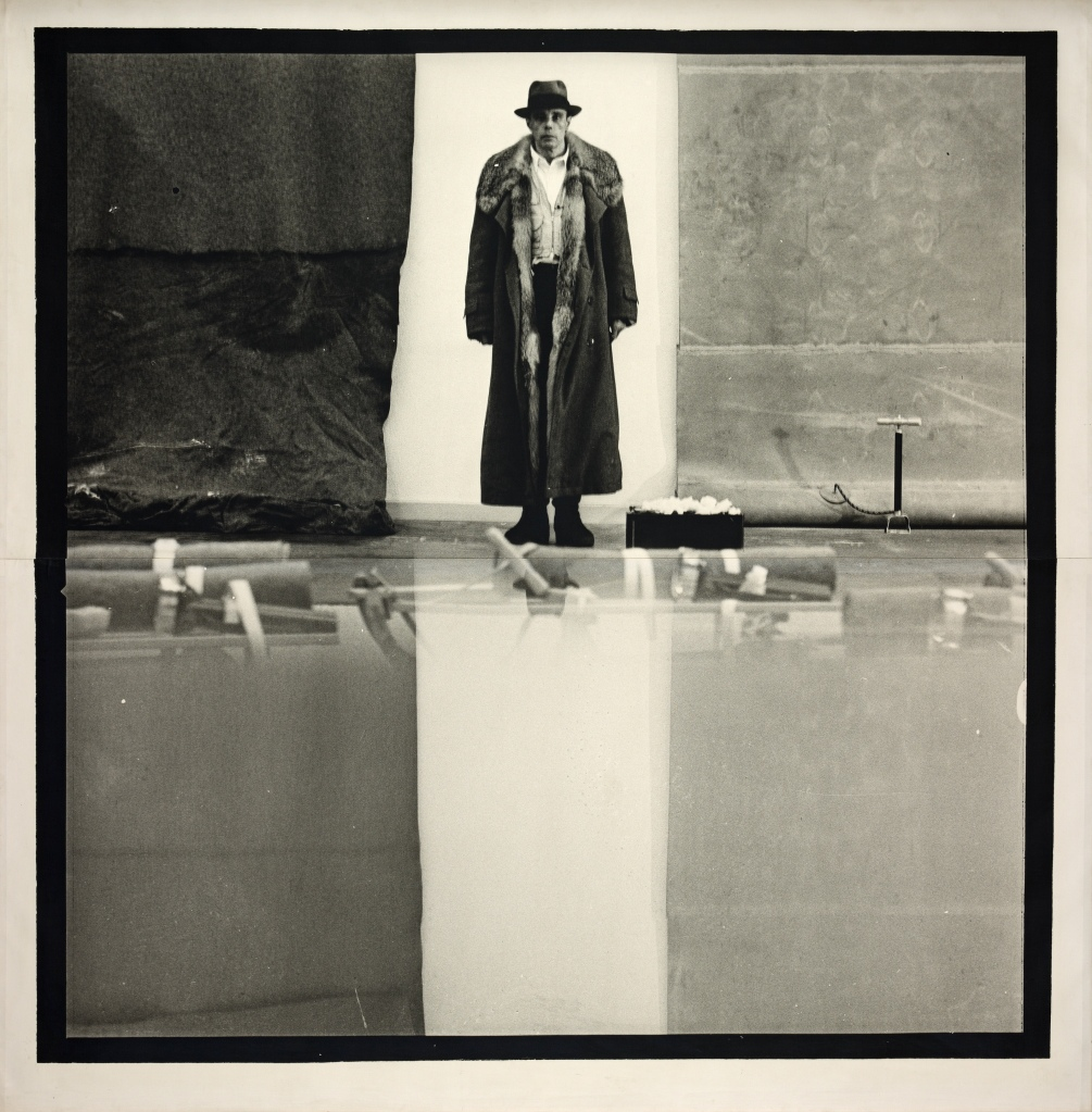Joseph BEUYS (1921–1986) Ohne Titel [Untitled], 1970. Photograph, gelatine silver print on canvas, 233 x 227.5 cm. ARTIST ROOMS National Galleries of Scotland and Tate. Acquired jointly through The d'Offay Donation with assistance from the National Heritage Memorial Fund and the Art Fund 2008.© DACS 2016.Image: © Antonia Reeve / National Galleries of Scotland.