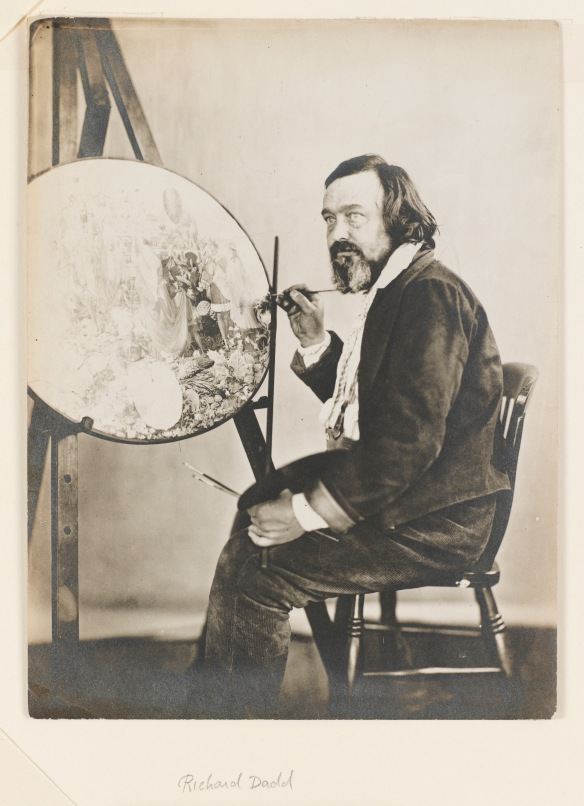 """Henry Hering, """"Richard Dadd at his easel"""" (1857)courtesy of Bethlem Museum of the Mind."""