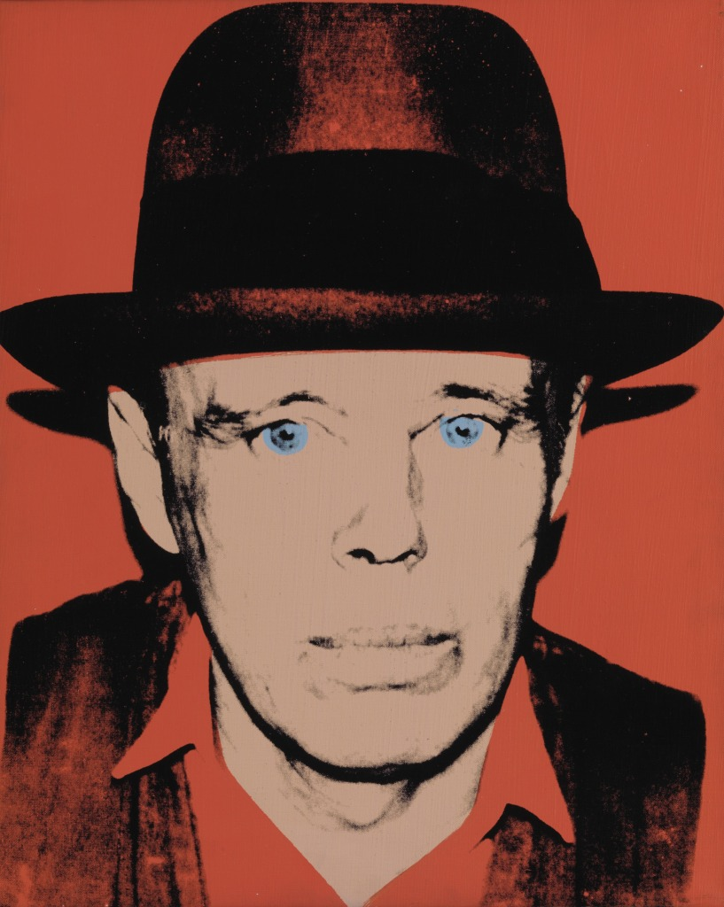 Andy WARHOL (1928–1987) Joseph Beuys, after 1980 Print, screenprint on paper, 126.30 x 117.10 cm. ARTIST ROOMS National Galleries of Scotland and Tate. Acquired jointly through The d'Offay Donation with assistance from the National Heritage Memorial Fund and the Art Fund 2008.© The Andy Warhol Foundation for the Visual Arts / Artists Rights Society (ARS), New York / DACS, London 2016.Image: © Tate / National Galleries of Scotland.