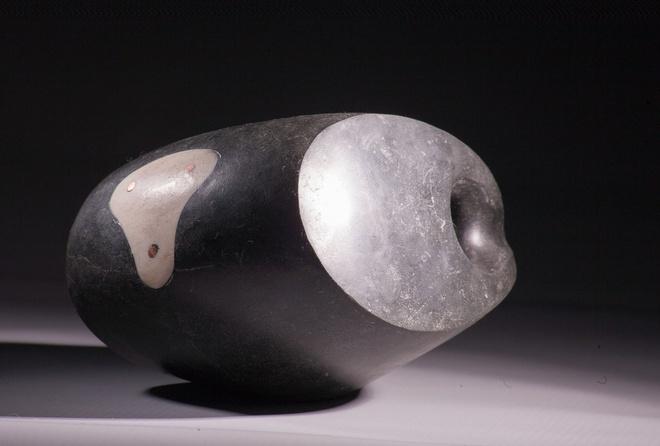"Steve Dilworth ""Deep Water"" Water (Harris Stone, seabed water and whale bone, 10cm high x 17cm x 12.5cm )"