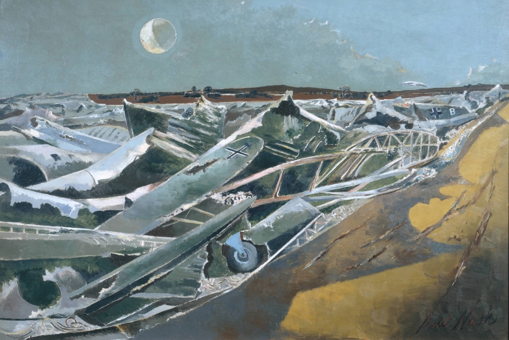 Paul Nash, Totes Meer (Dead Sea) (1940-41, Oil on canvas, support: 1016 x 1524 mm, frame: 1170 x 1680 x 97 mm. Tate. Presented by the War Artists Advisory Committee, 1946.)