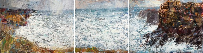 "Allan MacDonald ""Great North Headland"" (Oil on canvas, 40 x 152 cm)"