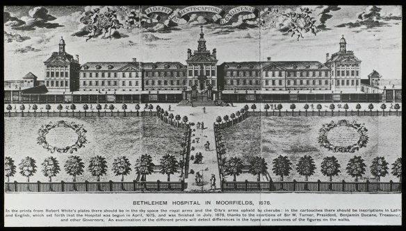 L0082314 Engraving of exterior of the hospital at