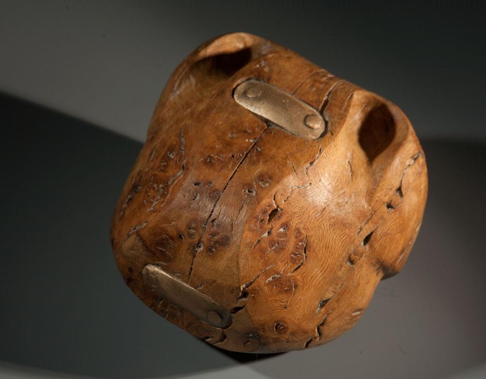 "Steve Dilworth ""Throwing Object"" (Burr elm, wren and bronze)"