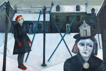 "Joyce W Cairns ""Farewell To Footdee"" (Oil on panel 122cm x 183cm)"