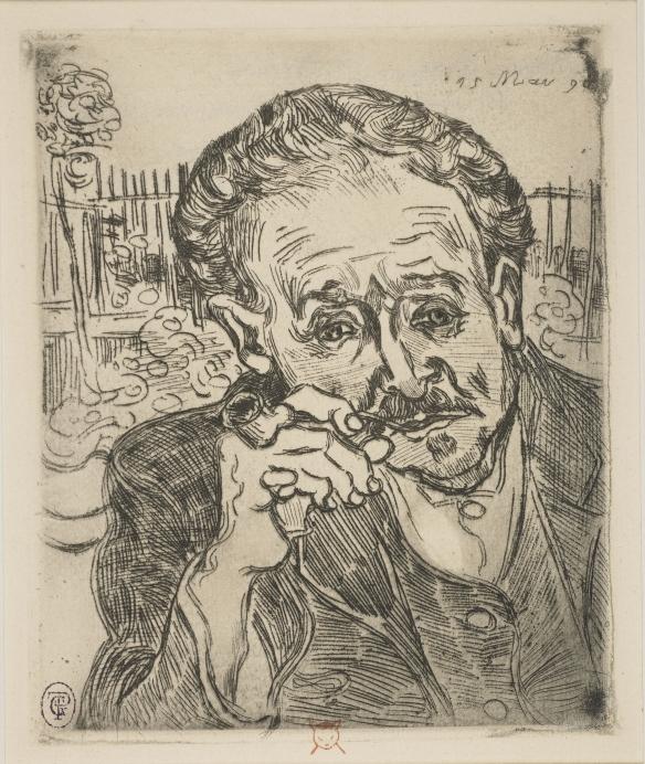 "Vincent Van Gogh, ""LHomme à la pipe""1890 c Trustees of the British Museum."